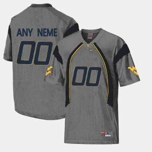 #00 West Virginia Mountaineers College Limited Football Men Customized Jerseys - Gray