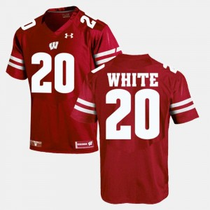 #20 James White Wisconsin Badgers Alumni Football Game Mens Jersey - Red