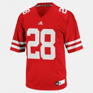 #28 Montee Ball Wisconsin Badgers College Football Youth(Kids) Jersey - Red