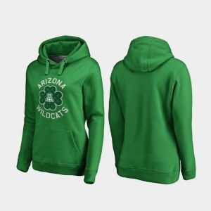 Arizona Wildcats St. Patrick's Day Luck Tradition Ladies Hoodie - Kelly Green