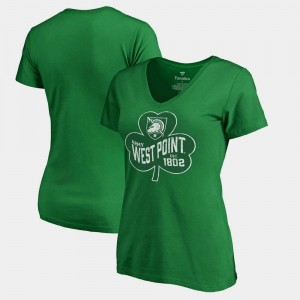 Army Black Knights For Women's Paddy's Pride Fanatics St. Patrick's Day T-Shirt - Kelly Green