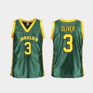#3 Trinity Oliver Baylor Bears Women College Basketball Replica Jersey - Green