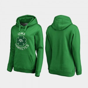 Iowa Hawkeyes Womens Luck Tradition St. Patrick's Day Hoodie - Kelly Green
