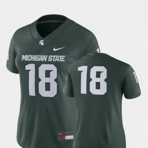 #18 Michigan State Spartans 2018 Game College Football For Women Jersey - Green