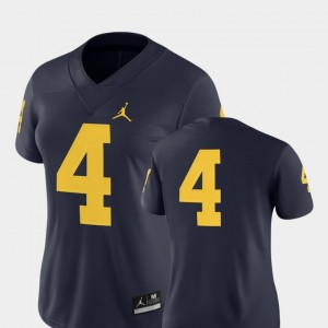 #4 Michigan Wolverines For Women College Football 2018 Game Jersey - Navy