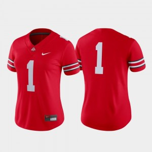 #1 Ohio State Buckeyes Game For Women's College Football Jersey - Scarlet