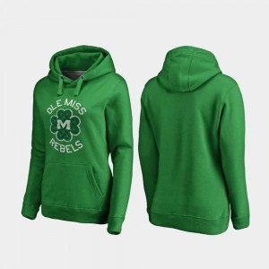 Ole Miss Rebels St. Patrick's Day Ladies Luck Tradition Hoodie - Kelly Green