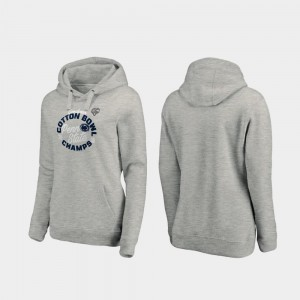 Penn State Nittany Lions Ladies Curl Logo 2019 Cotton Bowl Champions Hoodie - Heather Gray