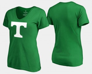 Tennessee Volunteers St. Patrick's Day White Logo Ladies T-Shirt - Kelly Green