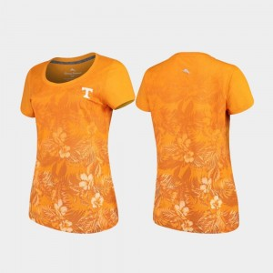 Tennessee Volunteers For Women's Tommy Bahama Floral Victory T-Shirt - Tennessee Orange