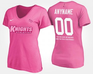 #00 UCF Knights With Message Ladies Customized T-Shirts - Pink