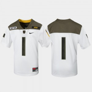 #1 Army Black Knights 1st Cavalry Division Limited Edition Replica Youth Jersey - White