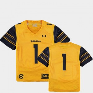 #1 California Golden Bears Finished Replica College Football For Kids Jersey - Gold