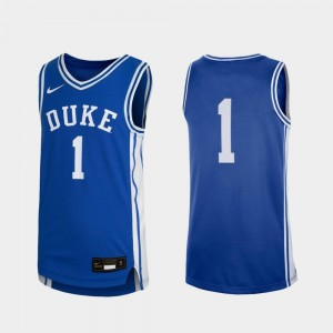 #1 Duke Blue Devils Replica Youth College Basketball Jersey - Royal