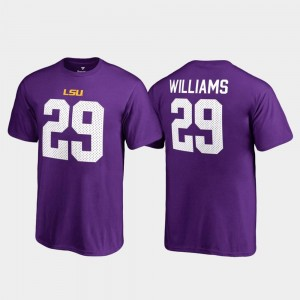 #29 Greedy Williams LSU Tigers Youth(Kids) College Legends Name & Number T-Shirt - Purple
