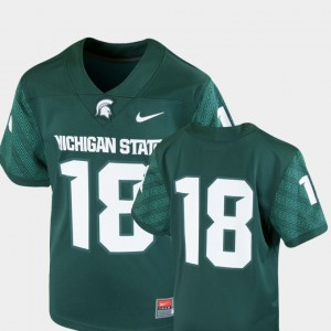 #18 Michigan State Spartans College Football Youth(Kids) Team Replica Jersey - Green