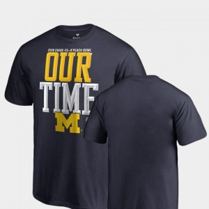 Michigan Wolverines Youth Counter 2018 Peach Bowl Bound T-Shirt - Navy