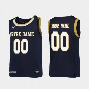 #00 Notre Dame Fighting Irish For Kids College Basketball Replica Customized Jersey - Navy