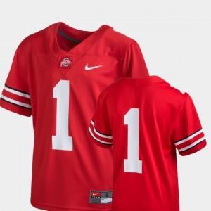 #1 Ohio State Buckeyes College Football Team Replica For Kids Jersey - Scarlet