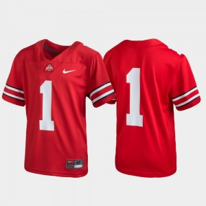 #1 Ohio State Buckeyes Football Untouchable Youth Jersey - Scarlet
