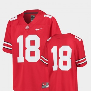 #18 Ohio State Buckeyes College Football Replica For Kids Jersey - Scarlet
