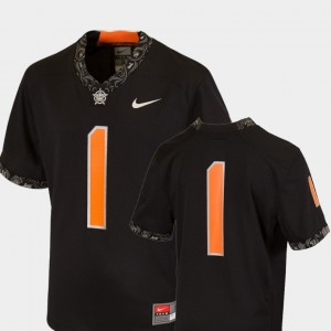 #1 Oklahoma State Cowboys and Cowgirls Team Replica College Football Youth(Kids) Jersey - Black
