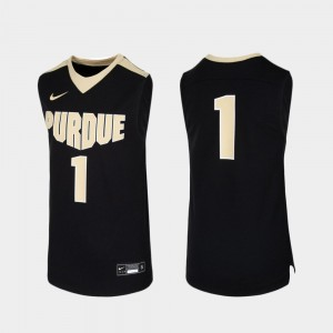 #1 Purdue Boilermakers College Basketball Replica For Kids Jersey - Black