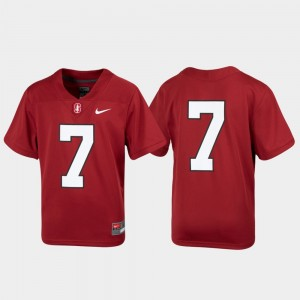 #7 Stanford Cardinal Untouchable Football Youth Jersey - Cardinal