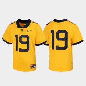 #19 West Virginia Mountaineers Untouchable Football For Kids Jersey - Gold