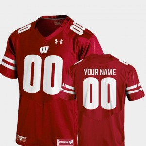#00 Wisconsin Badgers College Football 2018 Replica Youth(Kids) Customized Jerseys - Red